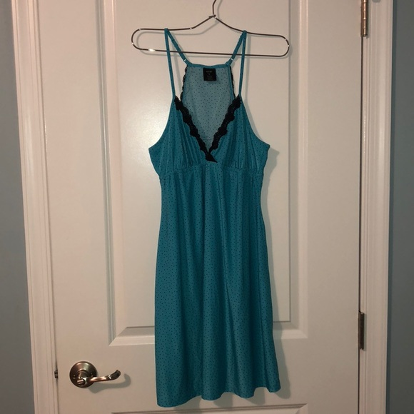 Apt. 9 Other - Teal & black polka dot nightgown